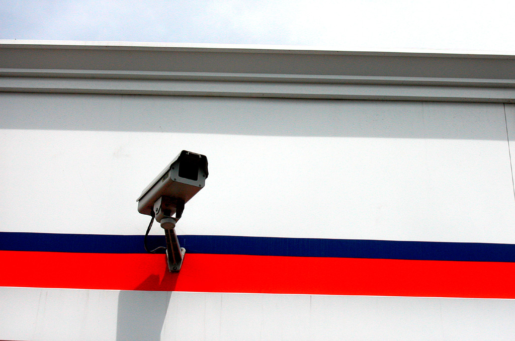 Patriotic security camera. Foto: cjelli. Lizenz: CC BY-NC-ND.